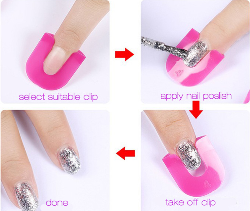 Professional French Nail Art Manicure Stickers Tips Finger Cover ...