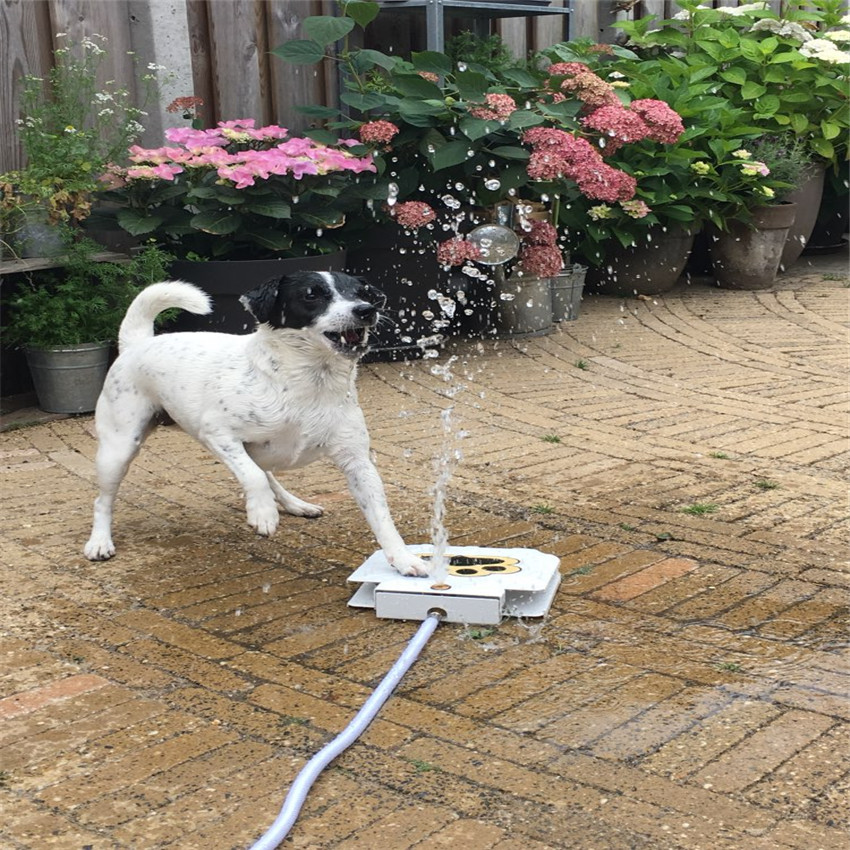 trouble free outdoor dog cat pet drinking doggie water fountain new