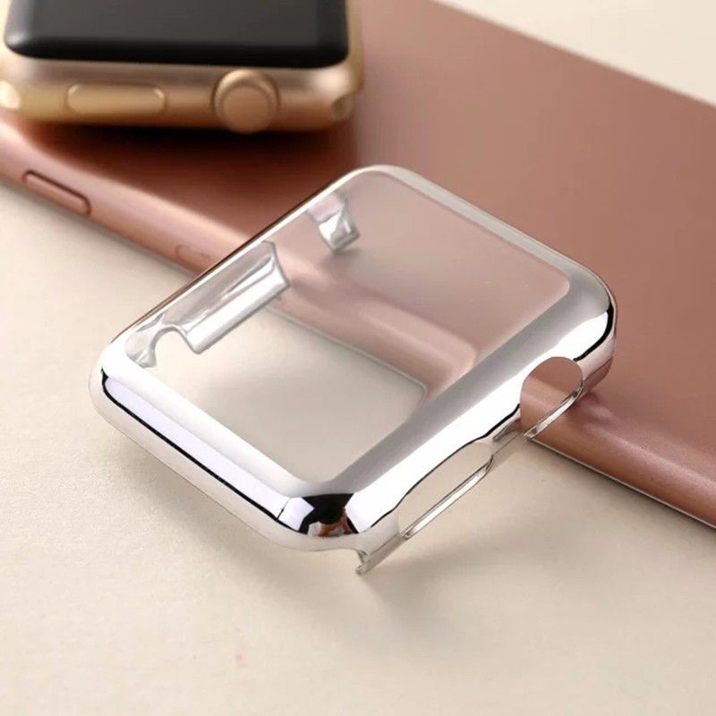 low cost 3a2ce a4805 Ultra-thin Metal Plated Watch Case For Apple iWatch Series 1/2 38/42mm  Screen Protector Cover Full Body Case For Apple Watch 1/2